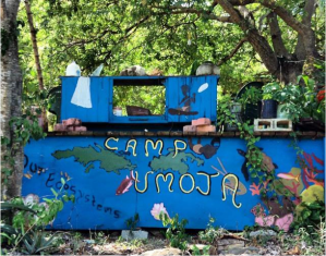 Camp Umoja Welcome Wall